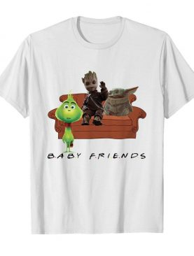 Baby Friends Baby Yoda Baby Grinch and Baby Groot shirt