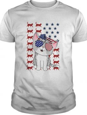 Cat Flag American In 5 Independence Day shirt