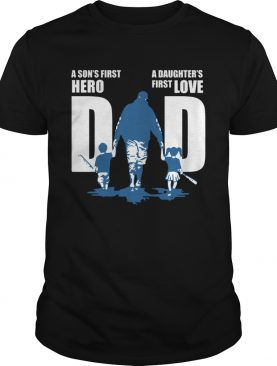 Dad A Sons First Hero A Daughters First Love Baseball shirt