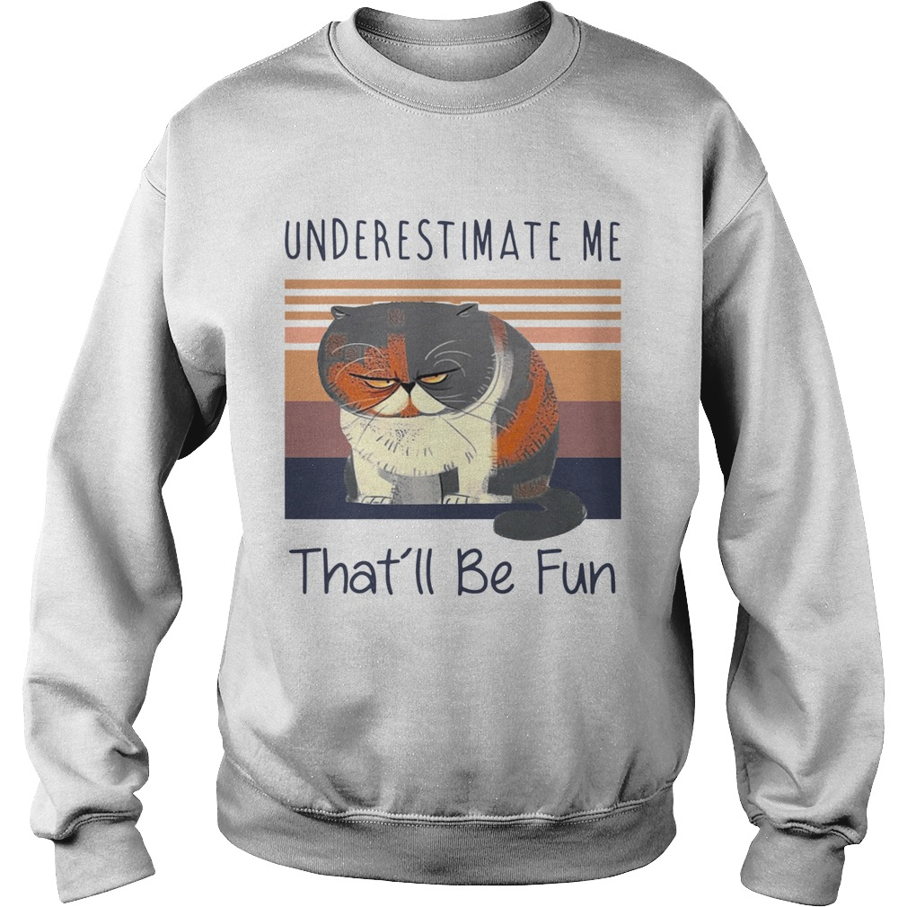 Grumpy Cat Underestimate Me Thatll Be Fun Vintage  Sweatshirt