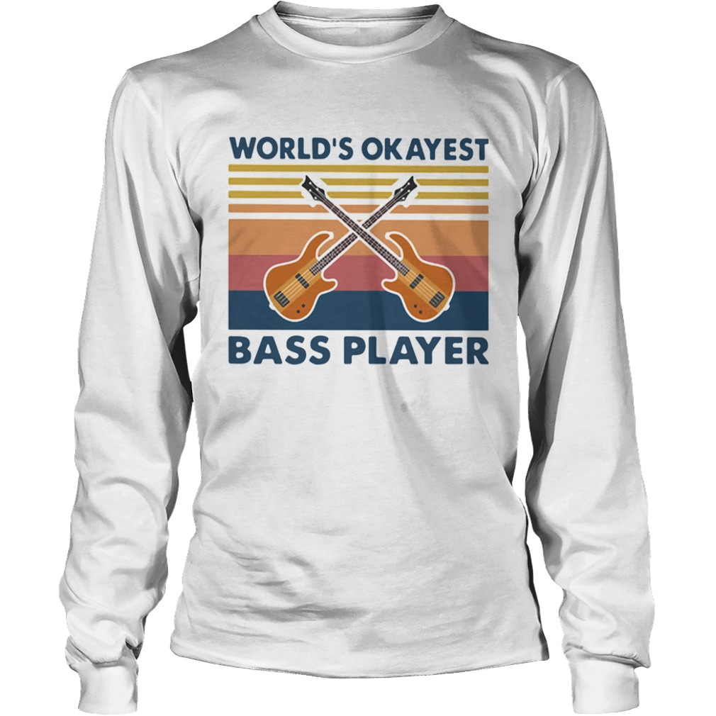 Guitars Worlds Okayest Ball Player Vintage  Long Sleeve