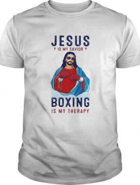 Jesus is my savior boxing is my therapy shirt