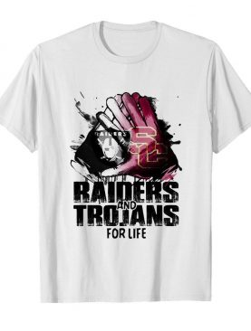 Oakland raiders and southern california trojans for life art shirt
