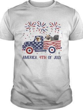 Pug Car America 4th Of July shirt