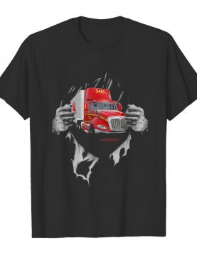 Strong Superman Saia LTL Freight Truck shirt