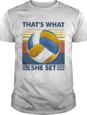 Thats What She Set Volleyball Vintage shirt