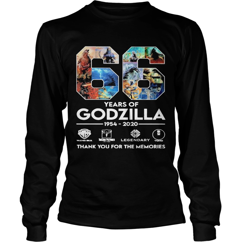 66 Years Of Godzilla 1954 2020 Thank You For The Memories  Long Sleeve