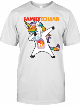 Dabbing Unicorn Mask Family Dollar Logo Coronavirus T-Shirt