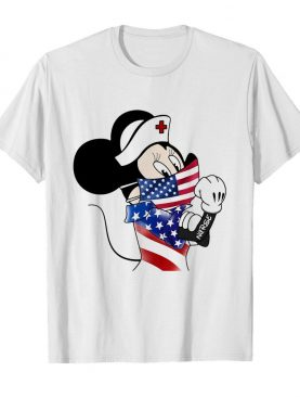 Disney minnie mouse nurse american flag independence day shirt