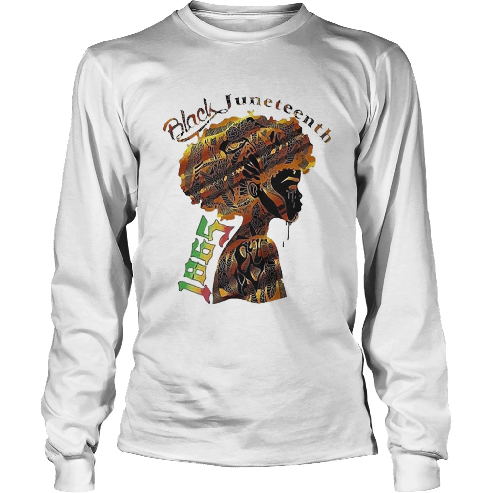 Girl Black Juneteenth Since 1865  Long Sleeve