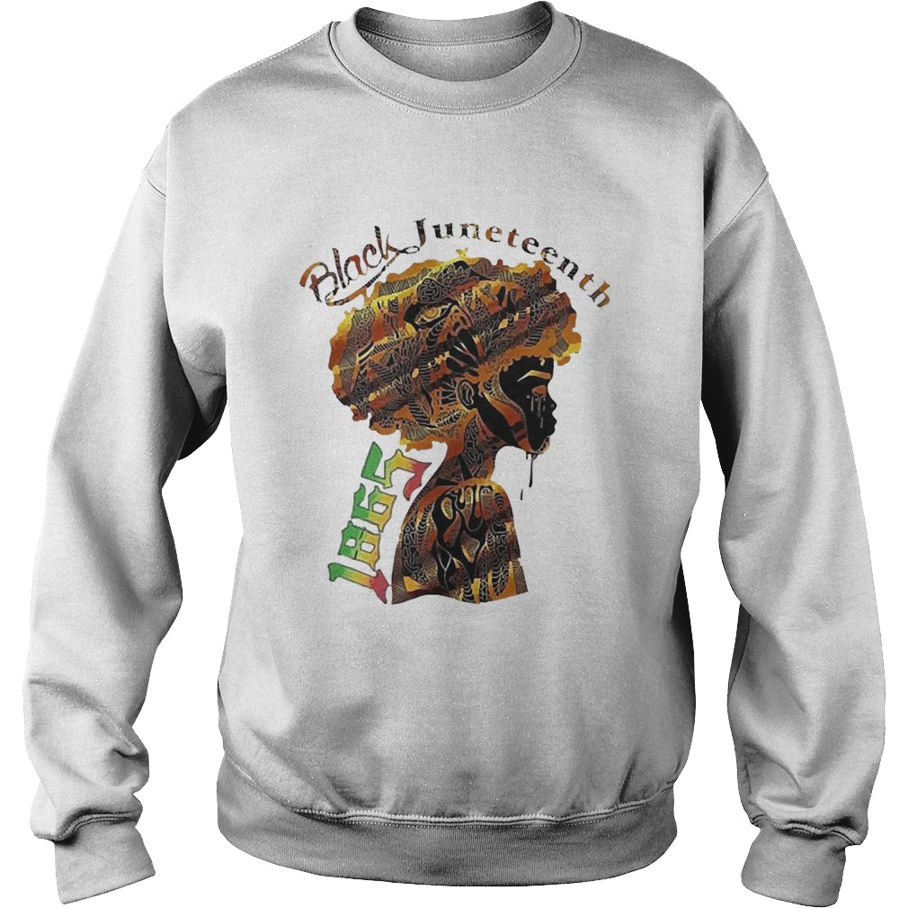 Girl Black Juneteenth Since 1865  Sweatshirt