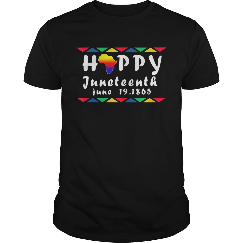 Happy juneteenth june 19 1865 americas map  Unisex