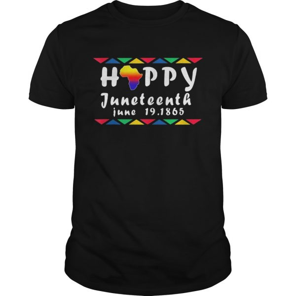 Happy juneteenth june 19 1865 americas map shirt