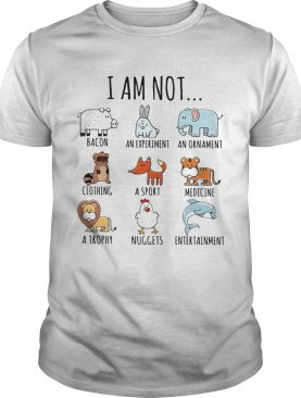 I Am Not Bacon An Experiment An Ornament Clothing shirt