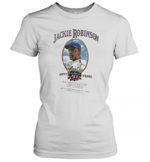 Jackie Robinson Baseball Fifty Years T-Shirt Classic Women's T-shirt
