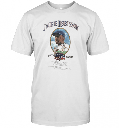 Jackie Robinson Baseball Fifty Years T-Shirt Classic Men's T-shirt