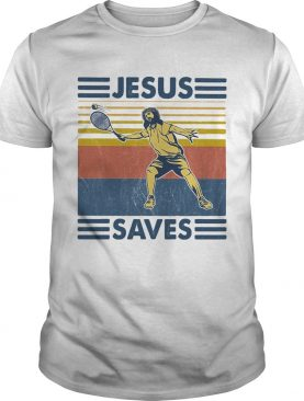 Jesus saved Tennis vintage shirt
