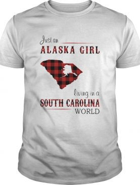 Just an alaska girl living in a south carolina world map shirt