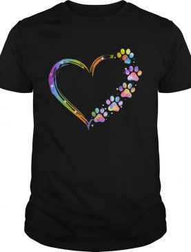 LGBT Paw Dog Heart shirt