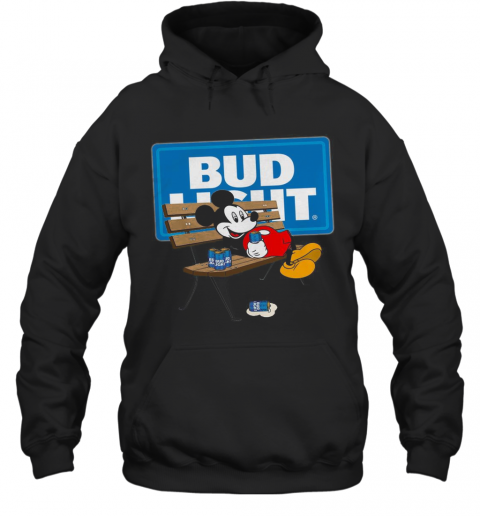 Mickey Mouse Drinking Bud Light T-Shirt Unisex Hoodie