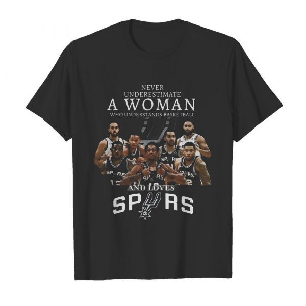 Never Underestimate A Woman Who Understands Basketball And Loves San Antonio Spurs shirt