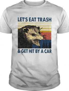 Opossum Lets Eat Trash And Get Hit By A Car Vintage shirt