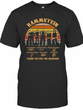 Rammstein Thank You For The Memories Signatures Vintage Retro T-Shirt