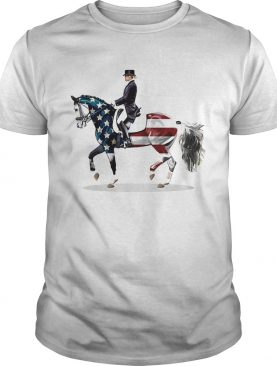 Riding horse american flag independence day shirt