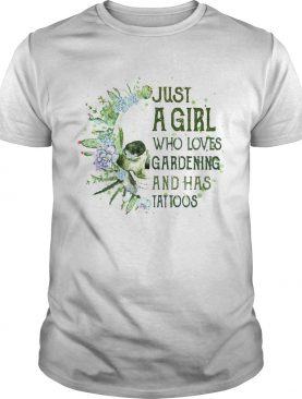 Skull cactus just a girl who loves gardening and has tattoos shirt