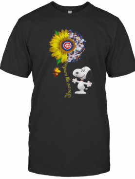 Snoopy And Woodstock You Are My Sunshine Chicago Cubs Sunflower T-Shirt