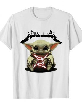 Star wars baby yoda hug metallica shirt