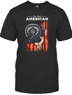 The Real American Cherokee Blood Flag Independence Day T-Shirt