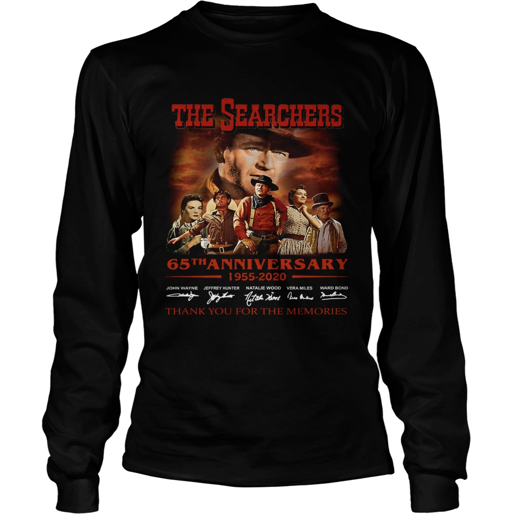 The Searchers 65th Anniversary 1955 2020 Signature Thank You For The Memories  Long Sleeve
