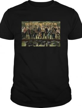The walking dead film characters signatures shirt