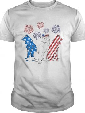 Wolf firework american flag independence day shirt