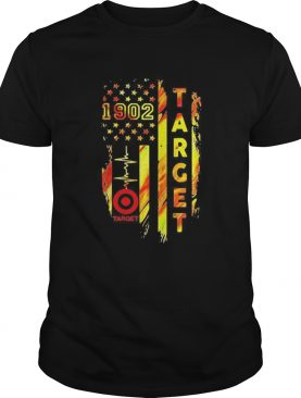 1902 target heartbeat america flag independence day shirt