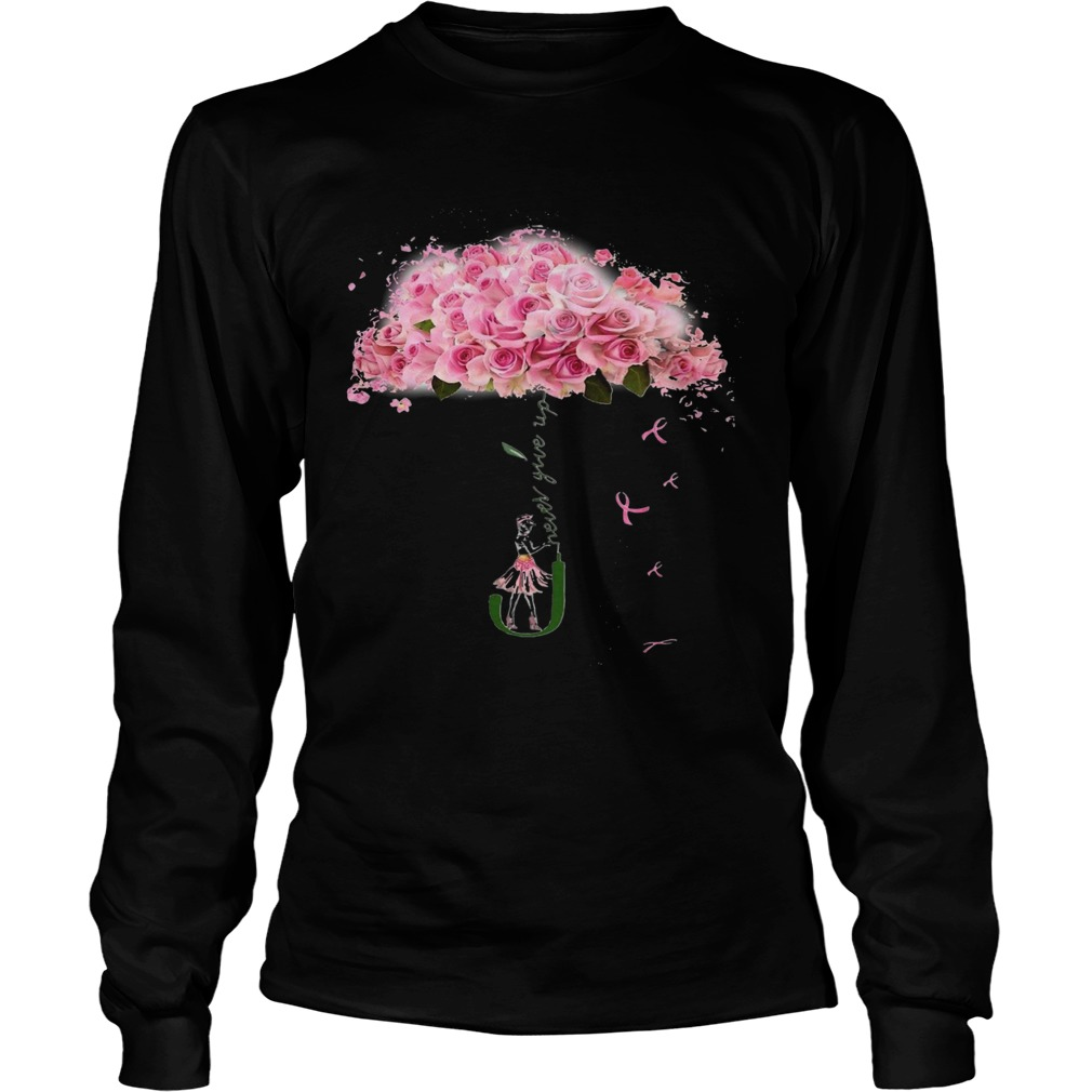 Girl Parasol Rose Never Give Up  Long Sleeve
