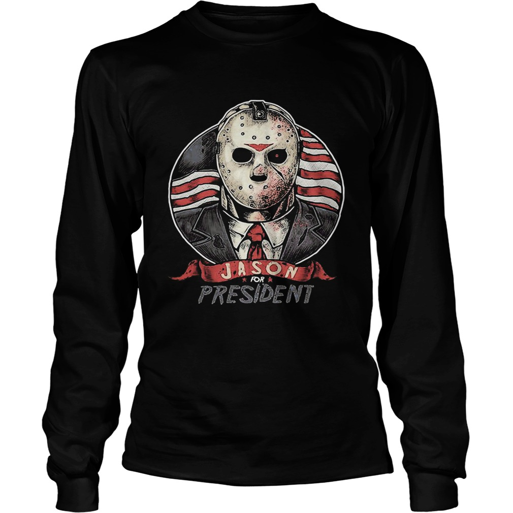 Halloween michael myers jason for president american flag independence day  Long Sleeve
