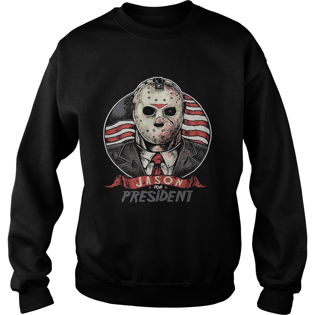 Halloween michael myers jason for president american flag independence day  Sweatshirt