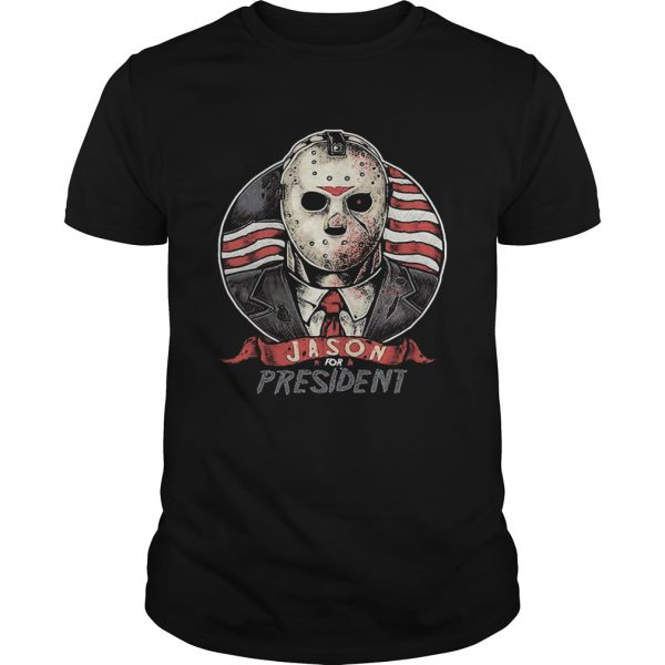 Halloween michael myers jason for president american flag independence day shirt