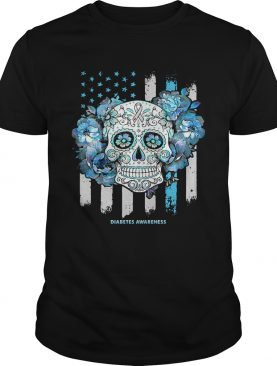 Independence day festival of death skull diabetes awareness shirt