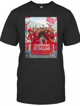 Liverpool Football Club Premier League Champions Of England T-Shirt