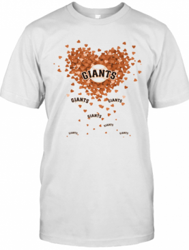 Love New York Giants Baseball Hearts T-Shirt