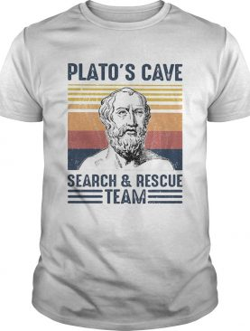 Platos cave search and resue team vintage retro shirt