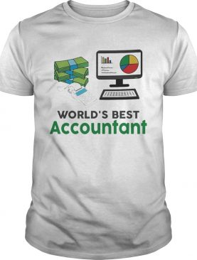 Worlds Best Accountatn Computer Bill Money shirt
