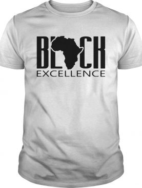Black excellence maps shirt