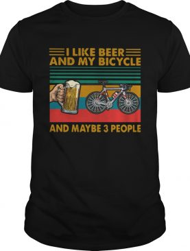 I Like Beer And Tennis And Maybe 3 People Vintage shirt