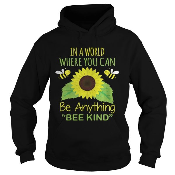 In A World Where You Can Be Anything Bee Kind  Hoodie