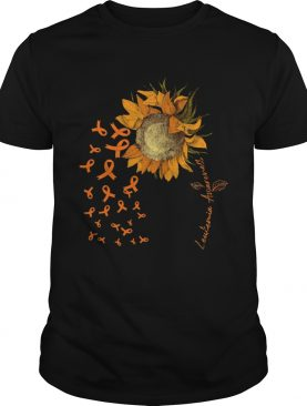 LEUKEMIA AWARENESS SUNFLOWER RIBBON shirt