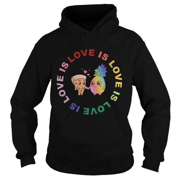 Love is love pineapple and pizza  Hoodie
